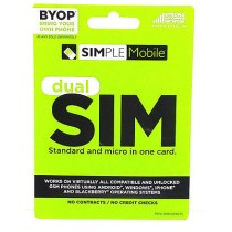 Simple Mobile Dual (Reg & Mic) Sim Card